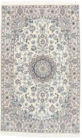 Nain 9La Matta 127X203 Äkta Orientalisk Handknuten Beige/Ljusgrå (Ull/Silke, Persien/Iran)