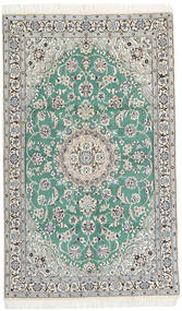 Nain 9La Rug 115X190 Authentic  Oriental Handknotted Beige/Light Grey (Wool/Silk, Persia/Iran)