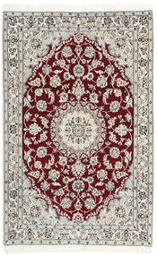 Nain 9La Rug 114X178 Authentic  Oriental Handknotted Beige/Light Grey (Wool/Silk, Persia/Iran)