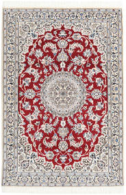 Nain 9La Rug 115X172 Authentic  Oriental Handknotted Beige/Dark Grey (Wool/Silk, Persia/Iran)