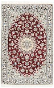Nain 9La Tappeto 113X179 Orientale Fatto A Mano Beige/Grigio Chiaro (Lana/Seta, Persia/Iran)