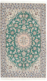 Nain 9La Rug 120X195 Authentic  Oriental Handknotted Beige/Turquoise Blue (Wool/Silk, Persia/Iran)
