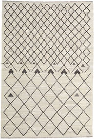 Kilim Ariana Rug 202X298 Authentic  Modern Handwoven Dark Beige/Light Grey (Wool, Afghanistan)