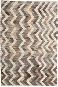 キリム Ariana 絨毯 196X295 モダン 手織り 薄い灰色/ベージュ (ウール, アフガニスタン)