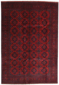 Afghan Khal Mohammadi Alfombra 204X295 Oriental Hecha A Mano Rojo Oscuro (Lana, Afganistán)