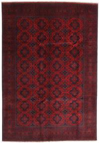 Afghan Khal Mohammadi Matto 204X295 Itämainen Käsinsolmittu Tummanpunainen (Villa, Afganistan)