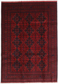 Afghan Khal Mohammadi Rug 205X292 Authentic  Oriental Handknotted Dark Red/Crimson Red (Wool, Afghanistan)