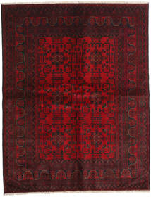 Afghan Khal Mohammadi Teppe 178X227 Ekte Orientalsk Håndknyttet Mørk Rød/Mørk Brun (Ull, Afghanistan)