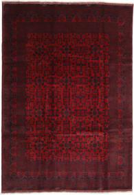 Afghan Khal Mohammadi Tæppe 203X294 Ægte Orientalsk Håndknyttet Mørkerød/Rød (Uld, Afghanistan)
