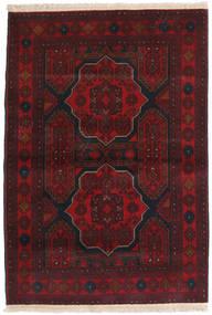 Afghan Khal Mohammadi Alfombra 104X150 Oriental Hecha A Mano Negro/Rojo Oscuro (Lana, Afganistán)