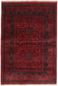 Afghan Khal Mohammadi Tæppe 100X145 Ægte Orientalsk Håndknyttet Mørkerød/Sort/Rød (Uld, Afghanistan)