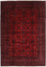 Afghan Khal Mohammadi Rug 207X290 Authentic  Oriental Handknotted Dark Red/Dark Brown (Wool, Afghanistan)