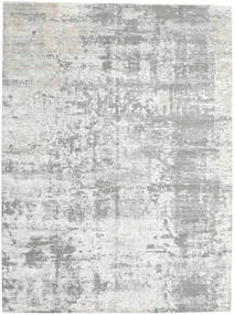 Damask Indo Rug 270X360 Authentic  Modern Handknotted Light Grey/Beige Large (Wool/Bamboo Silk, India)