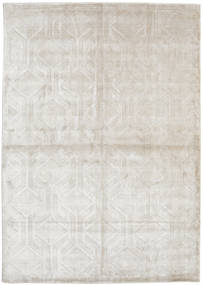 Viscose Modern Rug 170X240 Authentic  Modern Handknotted Light Grey/Dark Beige ( India)