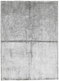 Viscose Modern Rug 172X240 Authentic  Modern Handknotted Light Grey/White/Creme ( India)