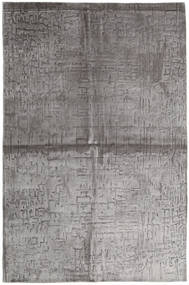 Viscose Modern Rug 164X248 Authentic  Modern Handknotted Light Grey/Dark Grey ( India)