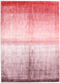 Viscose Modern Rug 173X243 Authentic  Modern Handknotted Light Pink/Beige ( India)