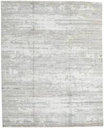 Damask Indisk Tæppe 245X302 Ægte Moderne Håndknyttet Lysegrå/Hvid/Creme (Uld/Bambus Silke, Indien)