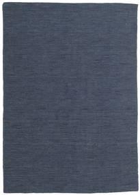 Kilim Loom - Drugi Gatunek Dywan 140X200 Nowoczesny Tkany Ręcznie Niebieski/Ciemnoniebieski (Wełna, Indie)