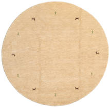 Gabbeh Loom - Secondary Rug Ø 200 Modern Round Dark Beige (Wool, India)