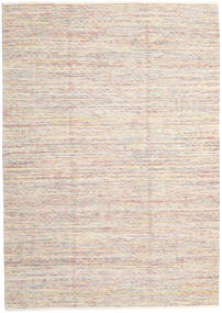 Hugo - Secondary Rug 200X300 Authentic  Modern Handwoven White/Creme/Light Pink ( India)
