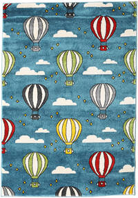 Balloons Rug 140X200 Modern Dark Turquoise  /Dark Blue ( Turkey)