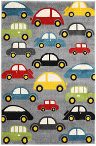 Cars Rug 120X180 Modern Dark Grey/Beige ( Turkey)