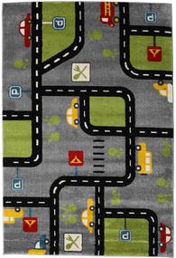 Roads Rug 160X230 Modern Black/Dark Grey/Dark Brown ( Turkey)