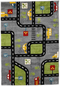 Roads Rug 140X200 Modern Dark Grey/Black ( Turkey)