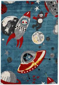 Astronauts Matta 160X230 Modern Mörkblå/Blå ( Turkiet)