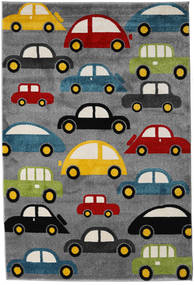 Cars Rug 160X230 Modern Dark Grey/Black ( Turkey)