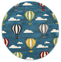 Balloons Matta 150X150 Modern Kvadratisk Mörkblå/Blå ( Turkiet)