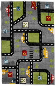 Roads Rug 120X180 Modern Dark Grey/Black ( Turkey)