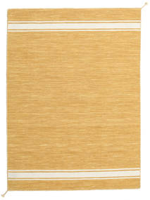 Ernst - Mustard/Off White Rug 140X200 Authentic  Modern Handwoven Light Brown (Wool, India)