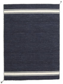 Ernst - Navy/Off White Rug 140X200 Authentic  Modern Handwoven Dark Blue/Dark Grey (Wool, India)