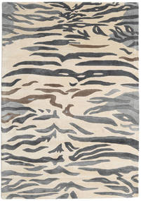 Love Tiger - Grey Rug 160X230 Modern Beige/Dark Grey/Light Grey ( India)