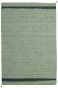 Ernst - Green/Dark _Green Rug 200X300 Authentic  Modern Handwoven Light Grey/Olive Green/Pastel Green (Wool, India)