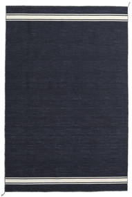 Ernst - Navy/Off White Rug 200X300 Authentic  Modern Handwoven Dark Blue (Wool, India)