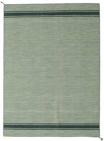 Ernst - Grön/Mörk _Green Matta 170X240 Äkta Modern Handvävd Ljusgrå/Pastellgrön (Ull, Indien)