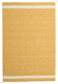 Ernst - Mustard/Off White Rug 200X300 Authentic  Modern Handwoven Light Brown (Wool, India)