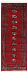 Pakistan Bokhara 2Ply Rug 78X203 Authentic  Oriental Handknotted Hallway Runner  Crimson Red/Dark Red (Wool, Pakistan)