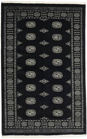 Pakistan Bokhara 3Ply Rug 135X210 Authentic  Oriental Handknotted Black/Dark Grey (Wool, Pakistan)
