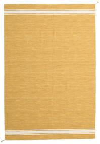Ernst - Senap/Naturvit Matta 250X350 Äkta Modern Handvävd Ljusbrun Stor (Ull, Indien)