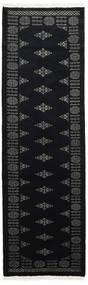 Pakistan Bokhara 3Ply Matto 77X248 Itämainen Käsinsolmittu Käytävämatto Musta/Tummanharmaa (Villa, Pakistan)