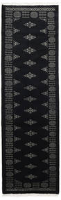 Pakistan Bokhara 3Ply Vloerkleed 77X248 Echt Oosters Handgeknoopt Tapijtloper Zwart/Donkergrijs (Wol, Pakistan)