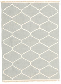 キリム モダン 絨毯 123X166 モダン 手織り 薄い灰色/ベージュ (ウール, インド)