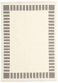 Kilim Modern Rug 139X198 Authentic  Modern Handwoven Beige/Light Grey (Wool, India)
