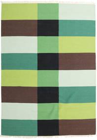 Kilim Modern Rug 170X240 Authentic  Modern Handwoven Dark Brown/Light Green (Wool, India)