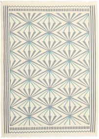 キリム モダン 絨毯 173X238 モダン 手織り ベージュ/薄い灰色 (ウール, インド)