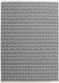 Kelim Moderna Matta 173X239 Äkta Modern Handvävd Ljusgrå/Mörkgrå (Ull, Indien)
